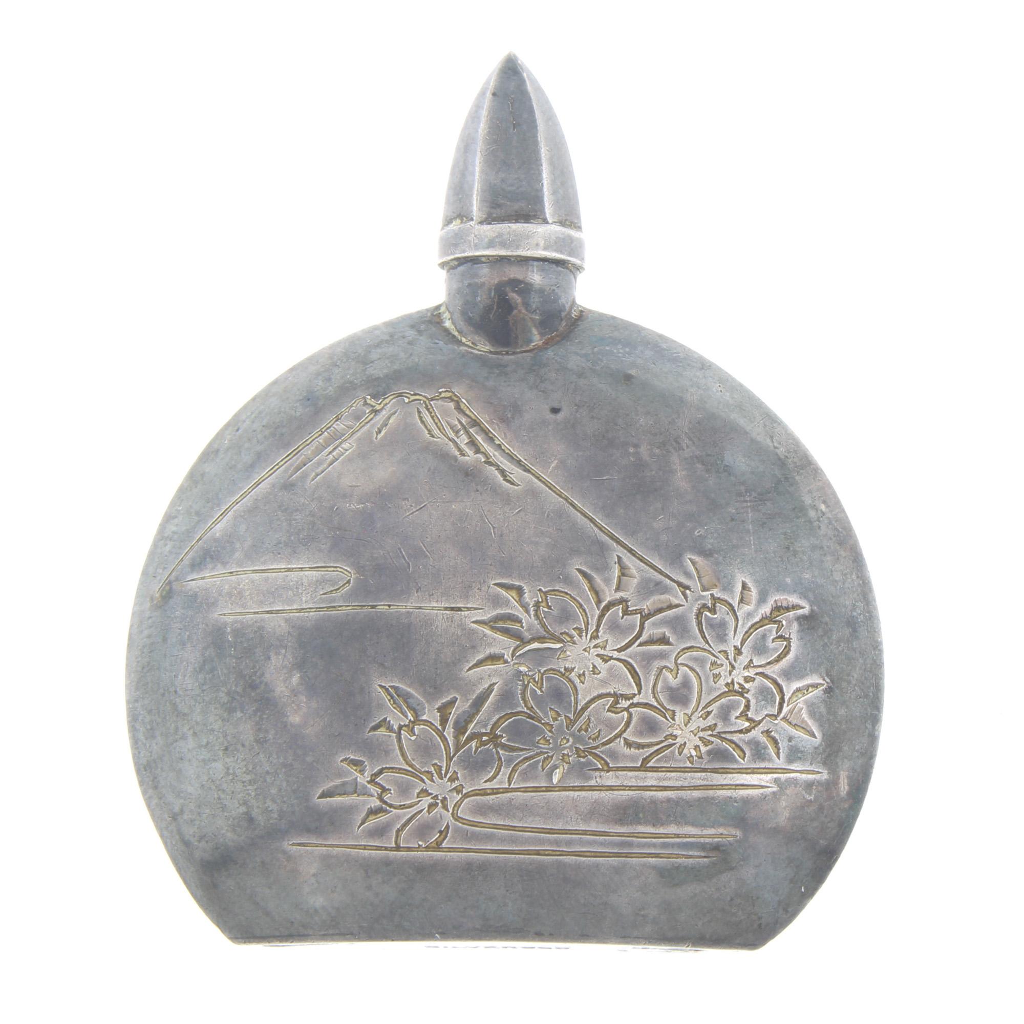 Vintage Japanese 950 Sterling Silver Mt Fuji Perfume