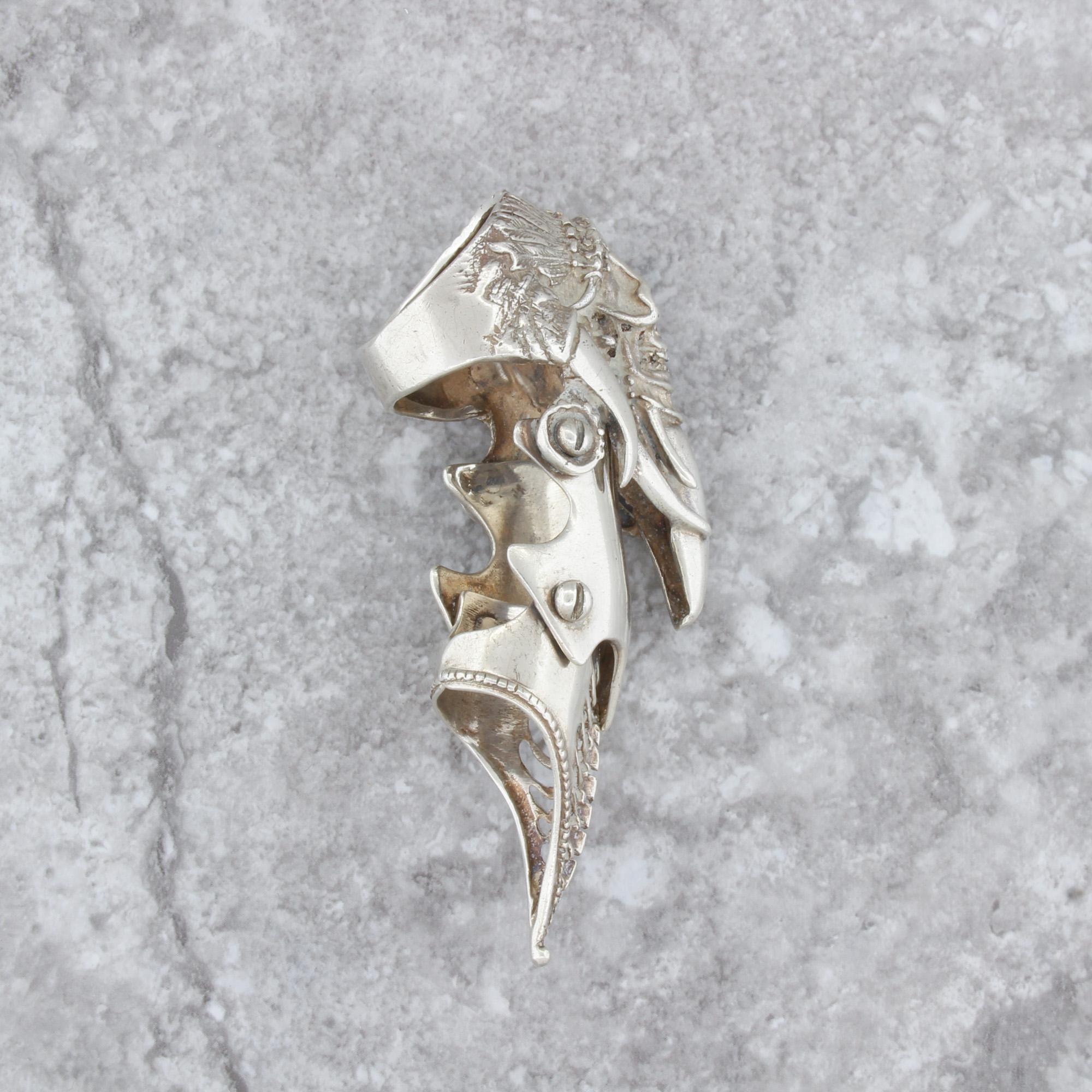 s sterling silver 925 skull ring finger armour